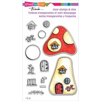 Stampendous Fran's Clear Stamps & Dies - Mushroom Home FREE SHIPPING