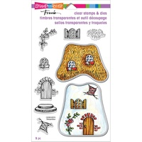 Stampendous Fran's Clear Stamps & Dies Cottage Home