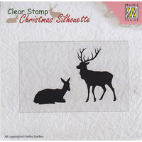 Nellie Snellen Christmas Silhouette Clear Stamps Reindeer
