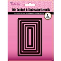 CraftsToo Cutting and Embossing Nesting Dies Rectangles