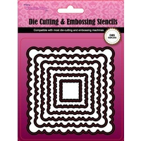 CraftsToo Cutting and Embossing Nesting Dies Scalloped Squares Frames 9