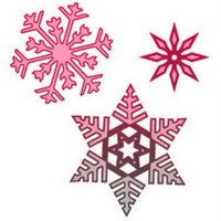 CraftsToo Cutting and Embossing Dies Snowflakes Frosted