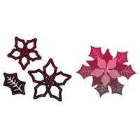 CraftsToo Cutting and Embossing Dies Xmas Flower Poinsettia