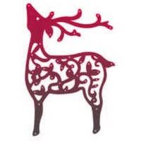 Crafts-Too Cutting and Embossing Dies Flourish Deer