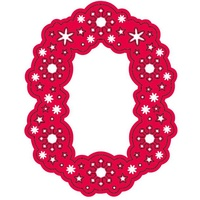 CraftsToo Cutting and Embossing Dies Snow Frame