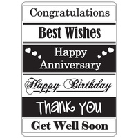 Crafts-Too Embossing Folder General Greetings 4.25x5.5