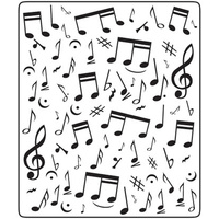 Crafts-Too Embossing Folder Music Notes 12.5cm x 15cm