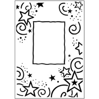 CRAFTSTOO Embossing Folder Stars Frame 4.25x5.5