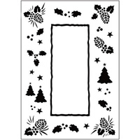 Crafts-Too Embossing Folder Christmas Trees Frame 4.25x5.5