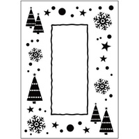 CRAFTSTOO Embossing Folder Let It Snow Frame 4.25x5.5