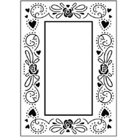 Crafts-Too Embossing Folder Happy Valentines Frame 4.25x5.5