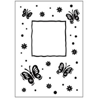 Crafts-Too Embossing Folder Butterfly Frame 4.25x5.5