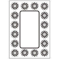 Crafts-Too Embossing Folder Daisy Frame 4.25x5.5