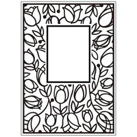 Crafts-Too Embossing Folder Tulip Window 4.25x5.5