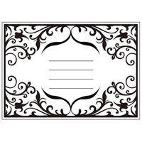 CRAFTSTOO Embossing Folder Invitation 4.25x5.5