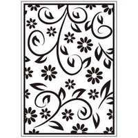 CRAFTSTOO Embossing Folder Floral Summer 4.25x5.5