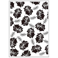 Crafts-Too Embossing Folder Topical Flowers 4.25x5.5