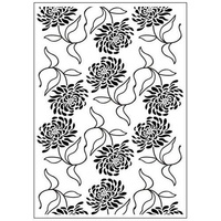 CRAFTSTOO Embossing Folder Blossom Mums 4.25x5.5