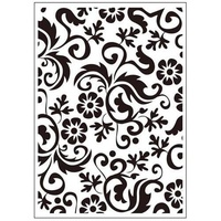 Crafts-Too Embossing Folder Flower Flourish 4.25x5.5