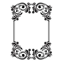 CRAFTSTOO Embossing Folder Flourish Frame 4.25x5.5