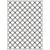 Crafts-Too Embossing Folder Lattice 5x7
