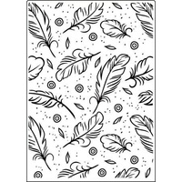 Crafts-Too Embossing Folder Feathers 5x7