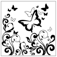 CRAFTSTOO Embossing Folder Butterflies & Swirls 14cm x 14cm
