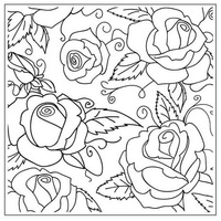 CRAFTSTOO Embossing Folder Large Roses 14cm x 14cm