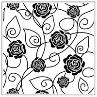 Crafts-Too Embossing Folder Roses 14cm x 14cm