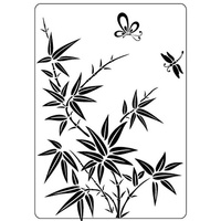 Crafts-Too Embossing Folder Bamboo 4.25x5.5