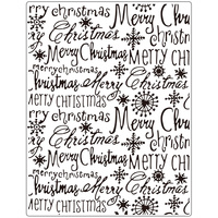 Crafts-Too Embossing Folder Merry Christmas 14.6cm x 19cm