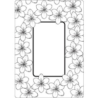 CRAFTSTOO Embossing Folder Tulip Frame 4.25x5.5