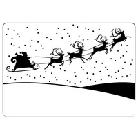 CRAFTSTOO Embossing Folder Sleigh 4.25x5.5