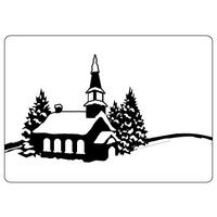 CRAFTSTOO Embossing Folder Winter Village 4.25x5.5