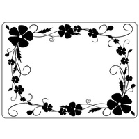Crafts-Too Embossing Folder Pansy Frame 4.25x5.5