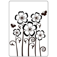 CRAFTSTOO Embossing Folder Pansies 4.25x5.5