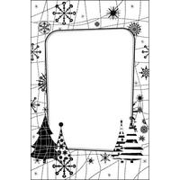 CRAFTSTOO Embossing Folder Snow Tree 4.25x5.5