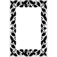 Crafts-Too Embossing Folder Berry Frame 4.25x5.5