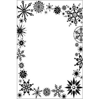 CRAFTSTOO Embossing Folder Frost Frame 4.25x5.5