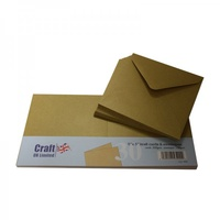 Craft UK Limited 30 Kraft 5x5 Cards and Envelopes