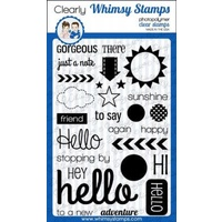 Whimsy Stamps Happy Hello