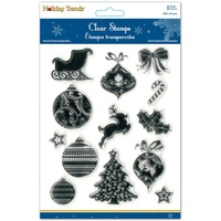 MultiCraft Holiday Clear Stamp 5X6 Holiday Icons