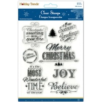 MultiCraft Holiday Clear Stamp 5X6 Season's Greetings