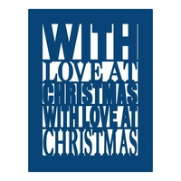 Tattered Lace Die With Love at Christmas Plaque D110