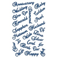 Tattered Lace Die Anniversary Words D362