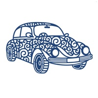 Tattered Lace Die - Retro Car D454 FREE SHIPPING