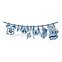 Tattered Lace Die Baby Boy Washing Line D750