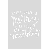 Kaisercraft Card Creations C6 Die Quote Merry Little Christmas DD782 FREE SHIPPING