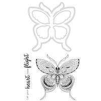 Kaisercraft Die & Stamp Butterfly DD928 FREE SHIPPING