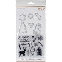 Kaisercraft Die & Stamp Merry Christmas DD938 FREE SHIPPING